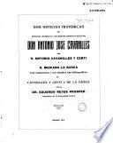 Dos noticias históricas del inmortal botánico y sacerdote hispano-valentino don Antonio José Cavanilles