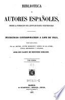 Dramaticos contemporaneos a Lope de Vega ... ; tomo 1