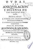 Dudas a la aniquilación y defensa de las sangrias del touillo