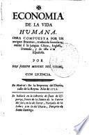 Economia de la vida humana