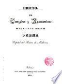 Edicto del Ayuntamiento de Palma de Mallorca sobre la limpieza pública