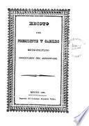 Edicto del presidente y cabildo metropolitano gobernador del arzobispado