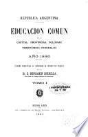 Educación común en la capital, provincias, colonias y territorios nacionales