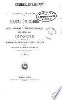 Educación común en la capital, provincias y territorios nacionales