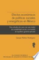 Efectos económicos de políticas sociales y energéticas en México