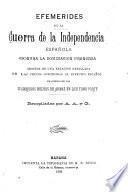 Efemérides de la guerra de la independencia española contra la dominación francesa