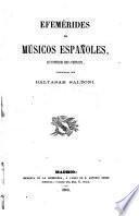 Efemérides de músicos españoles