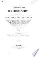 Efemeridografia Argirometropolitana, hasta la caida del gobierno de Rosas, etc
