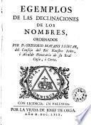 Ejemplos (sic) de las declinaciones de los nombres ordenados