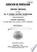 Ejercicio de perfeccion y virtudes cristianas
