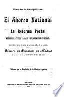 El ahorro nacional y la reforma postal