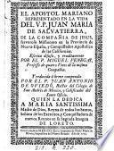 El Apostol Mariano Representado en la Vida del V.P. Juan Maria de Salvatierra