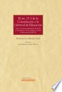 El art. 27.3 de la Constitución y la Libertad de Educación