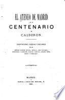 El Ateneo de Madrid en el centenario de Calderon