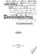 El Banco de la República peruana (plan economico-financiero).