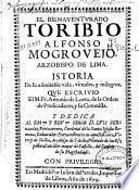 El bienaventurado Toribio Alfonso Mogrovejo, Arzobispo de Lima