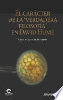 El carácter de la verdadera filosofía en David Hume