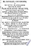 El Cavallero de Christo ... San Serapio Martyr