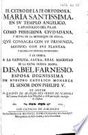 El Cetro de la fe ortodoxa, Maria Santissima, en su templo angelico, y apostolico del Pilar, etc. [With engravings.]