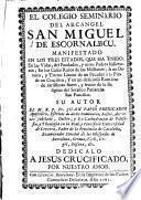 El Colegio Seminario del Arcángel San Miguel de Escornalbou