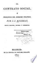 El contrato social; ó, Principios del derecho politico