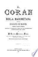 El Corán o Biblia Mahometana