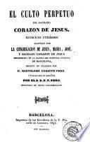 El Culto perpetuo del Sagrado Corazon de Jesus