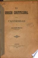 El derecho constitucional en la Universidad