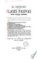El derecho de las clases pasivas