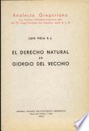 El Derecho Natural en Giorgio