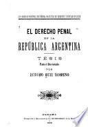 El derecho penal en la República Argentina ...