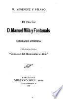 El doctor D. Manuel Milá y Fontanals