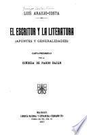 El escritor y la literatura
