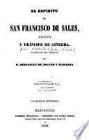 El espiritu de San Francisco de Sales, obispo y principe de Ginebra