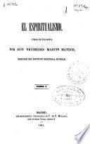 El Espiritualismo; Curso de Filosofia