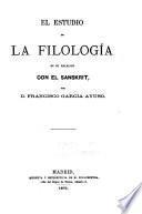 El estudio de la filología en su relación con el Sanskrit