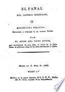El fanal del imperio mexicano, o miscelanea politica