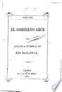 El gobierno Arce y la revolución de setiembre de 1888 en Bolivia