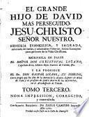 El grande Hijo de David más perseguido,Jesu- Christo