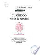 El Greco, pintor de retratos