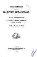 El impuesto extraordinario decretado en 10 de Noviembre de 1870
