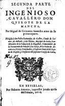 El ingenioso cavalléro Don Quixote de la Mancha