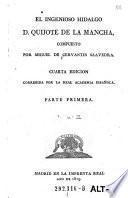 El ingenioso hidalgo D. Quijote de la Mancha (etc.)