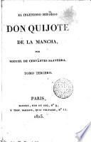 El Ingenioso hidalgo don Quijote de la Mancha,3