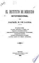 El instituto de derecho internacional