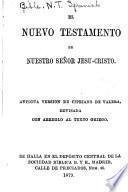 El Nuevo Testamento de Nuestro Señor Jesu-Cristo