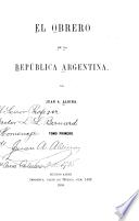 El obrero en la República argentina