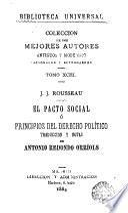 El Pacto social ó Principios del derecho político