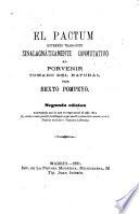 El pactum entremés tragi-bufo, sinalagmáticamente commutativo al porvenir tomado del natural