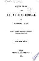 El Peru en 1860 [ir.mil. ochocientos sesenta]